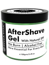 Bella Vita Organic No Burn After Shave Gel For Men With Aloe Vera And Tulsi(100g