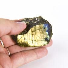 Natural Rough Labradorite feldspar Crystal Specimen 1 polished side 0004