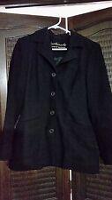 Charlie Brown Black Winter Coat Size 8 EUC