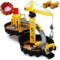 Baukran Parkgarage Kran Spielzeug Baustelle Fahrzeuge Kinder Lastwagen Parkhaus