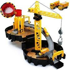Baukran mit Zubehör Kran Spielzeug Baustelle Fahrzeuge Kinder Lastwagen LKW NEU