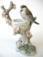 "Vintage Lladro ""Bird in the Nest� Tree Eggs Porcelain Figurine #1299 – No Box"