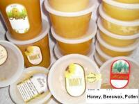 BLACKBERRY HONEY naturally crystallized PURE, RAW, REAL & NATURAL HONEY tubs