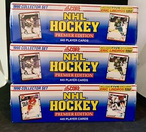 LOT OF 3  1990 Score NHL  Hockey Premier Edition Collector Factory Sealed  Sets