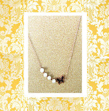 """CC20130 -  """"rose gold"""" with pearl and butterfly stainless steel pendent"""
