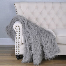 HST Mongolian Faux Fur Throw Blanket Sofa Cover Nap Coverlet