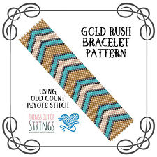 Gold Rush Peyote Bracelet Pattern - Odd Count Peyote Stitch Chart