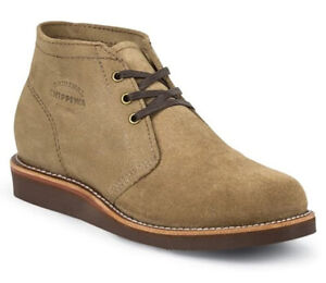Chippewa Men's Milford Suede Chukka Boots 1901G06 Khaki Factory Seconds Size 8 E