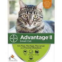Advantage II Flea Treatment for Small Cats 5 lbs to 9 lbs - 6 Doses - New