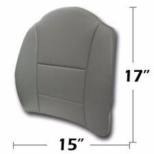 """BIG SIZE 15"""" X17"""" S.LEATHER LUMBAR SUPPORT BACK CUSHION ALL PURPOSE GREY"""