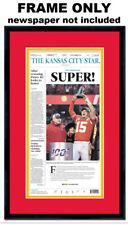 Kansas City Chiefs Newspaper Frame