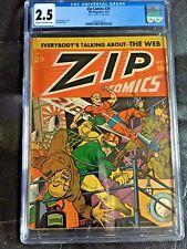 ZIP COMICS #29 CGC GD+ 2.5; CM-OW; Montana German/Japanese WW II cover!