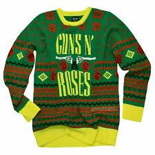 Guns N Roses 2016 Bravado GNR Big Guns Ugly Christmas Sweater Size Medium