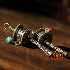 Tibetan Tibet Buddhist DIY Mini Gem OM Prayer Wheel Amulet Pendant 1PCS