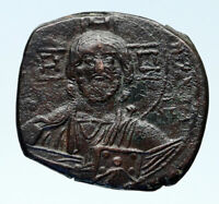 JESUS CHRIST Class A3 Anonymous Ancient 1020AD Byzantine Follis Coin i83031
