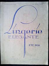 Lingerie élégante 1924 Mode féminine fashion sous vêtement Atelier Bachwitz RARE