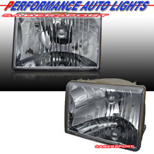 Set of Pair Euro Clear Chrome Headlights for 1993-1998 Jeep Grand Cherokee