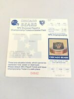 1987-8 NFL FOOTBALL TICKET CHICAGO BEARS PHANTOM TICKETS NFC CHAMPIONSHIP