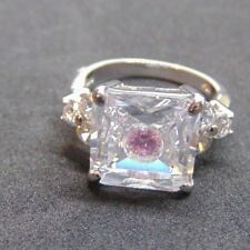 Suzanne Somers Sterling Silver Appx. 1.00 Ctw Solitaire Engagement Ring Size 7