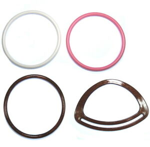 Plastic Bag Handles - Circle and Triangle - Various Colours - For Purse Making