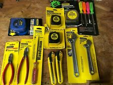 Stanley tools Lot [Tape measure, Wrench, Pliers, Screwdrivers, Box Cutter]