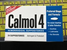Calmol 4 Hemorrhoidal Suppositories 24 Each (EXP: 07/2020)