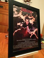 "FRAMED ORIGINAL 1979 JOHN WILLIAMS ""DRACULA - A LOVE STORY"" MOVIE PROMO AD"