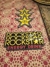 6 Mix Authentic Rockstar Energy Drink Stickers Decal Sign Logo BMX Motocross