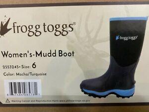 Frogg Toggs Womens Mudd Boots Size 6 muck chore hunting fishing gardening ladies
