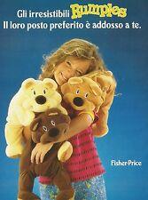 X2737 Rumples - Fisher-Price - Pubblicità 1994 - Advertising