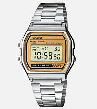 Casio Men's Silver Casual Classic Digital Bracelet Watch A158WEA-9CF