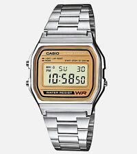 Casio Men's Silver Casual Classic Digital Bracelet Watch A158WEA-9CF