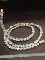 Pave 5,70 Cts Natürlich Diamanten Herren Damen Kette Halskette In 585 14K Gold