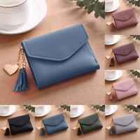 Women Fringed Trifold Wallet Small Bag Short Handbag Holder Purse Hasp NEW Gift