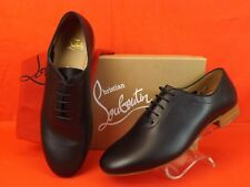 NIB LOUBOUTIN AC ALFRED BLACK SMOOTH LEATHER LACE UP OXFORDS SHOES 43 10