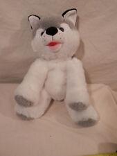 "Teddy Tastic Gray & White Cat plush 16"""