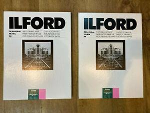 Ilford Multigrade Fibre Base 12x16 Gloss Paper - 50 Sheets - Expired x3 boxes