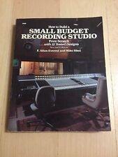 F. ALTON EVEREST, HOW TO BUILD A SMALL RECORDING STUDIO