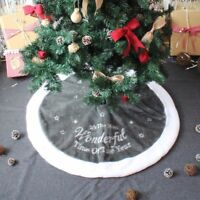 Non-Woven Red White Christmas Tree Skirt Carpet For Party Decoration 45-100cm