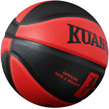 Kuangmi black Red Basketball Training Games Pu Leather Indoor/Outdoor Size7 29.5