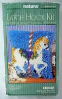 Carousel Horse Latch Hook Kit and Hook Caron Natura Started