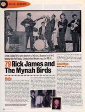 Hello, Goodbye Rick James & The Mynah Birds Mag Cutting
