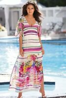 BNWT💗Next💗 Size 10 Kaftan Style Lined Floral Maxi Dress (38 EU) Beach RRP £60
