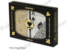 COPAG PLAYING CARDS 1546 ELITE POKER JUMBO INDEX 100% PLASTIC BLACK GOLD *RARE*