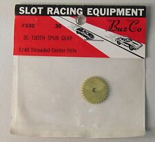 1960's Buzco 530 SPUR GEAR 30T 5/40 Threaded Center hole 1:24 1:32 slot cars MOC
