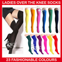 LADIES OVER THE KNEE SOCKS LADIES THIGH HIGH SOCKS - 22 Colours