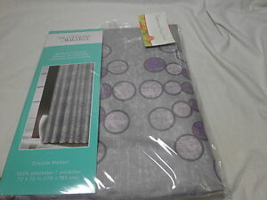 Traditions by Waverly Shower Curtain CIRCULAR MOTION ~ Purple Pink Grey Circles