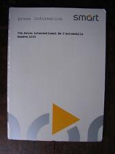 smart (Cabrio, City-Coupe, cdi) Pressemappe / Press-kit, Genf / Geneva 2000, D