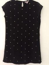 GORGEOUS GIRLS EVIE BLACK BEAD DETAIL DRESSE AGE 9 YEARS