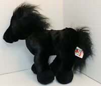 "Ganz Webkinz Friesian Stallion 9"" Black Horse Plush Stuffed Animal  No Code"